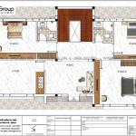 4 Bản vẽ tầng 2 biệt thự hiện đại mái thái tại hải phòng sh btd 0078