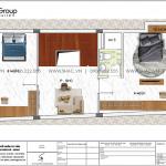 4 Bản vẽ tầng 2 nhà ống hiện đại có 3 phòng ngủ tại hải phòng sh nod 0219