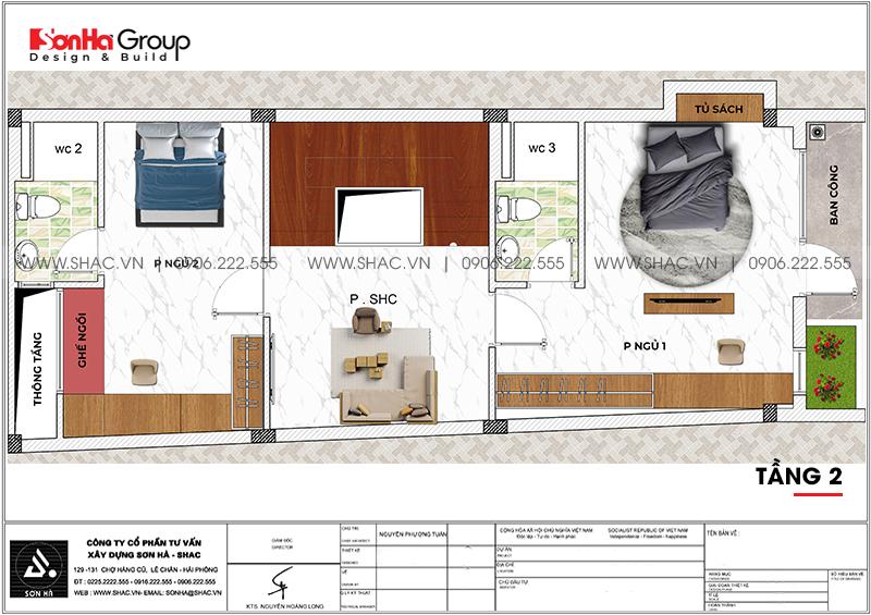 Mẫu nhà ống hiện đại 3 phòng ngủ 5,57x18,21m tại Hải Phòng giản dị mà đẹp mắt – SH NOD 0129 4