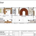 4 Bản vẽ tầng 2 nhà ống hiện đại có 3 phòng ngủ tại hải phòng sh nod 0220