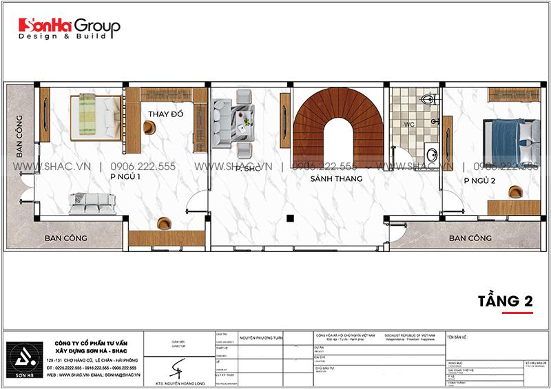 Nhà phố 3 tầng hiện đại tại Hải Phòng sang trọng với nội thất gỗ - SH NOD 0220 4