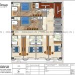 5 Bản vẽ tầng 3 khách sạn kiểu tân cổ điển tại lạng sơn sh ks 0083