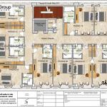 5 Bản vẽ tầng 4 đến 6 khách sạn kiểu tân cổ điển tại sơn la sh ks 0082