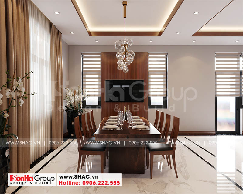 Mẫu thiết kế biệt thự hiện đại 2 tầng mái thái đẹp hoàn hảo tại Hải Phòng – SH BTD 0078 10