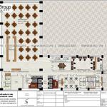 6 Bản vẽ tầng 3 khách sạn tân cổ điển 5 sao tại nghệ an sh ks 0086