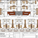 6 Mặt bằng tầng 2 3 khách sạn kiểu hiện đại tại bình thuận sh ks 0085
