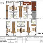 6 Mặt bằng tầng 4 đến 9 khách sạn tân cổ điển 3 sao tại lạng sơn sh ks 0083