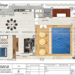 6 Mặt bằng tầng tum khách sạn tân cổ điển 3 sao tại phú quốc sh ks 0081