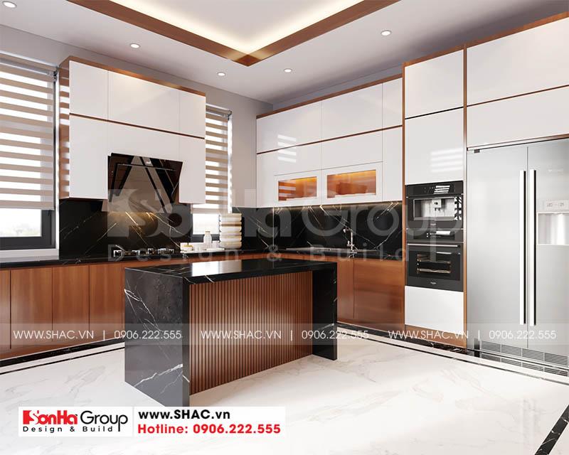 Mẫu thiết kế nội thất phòng bếp ăn biệt thự đẳng cấp từng góc nhỏ