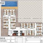 8 Bản vẽ tầng 5 đến 14 khách sạn tân cổ điển có bể bơi tại nghệ an sh ks 0086