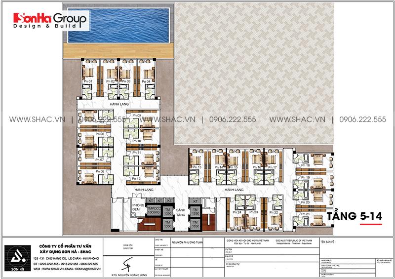 Khách sạn 5 sao phong cách tân cổ điển tại Nghệ An thiết kế đẹp hoàn hảo – SH KS 0086 8