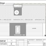 8 Bản vẽ tầng mái biệt thự hiện đại có gara tại hải phòng sh btd 0079