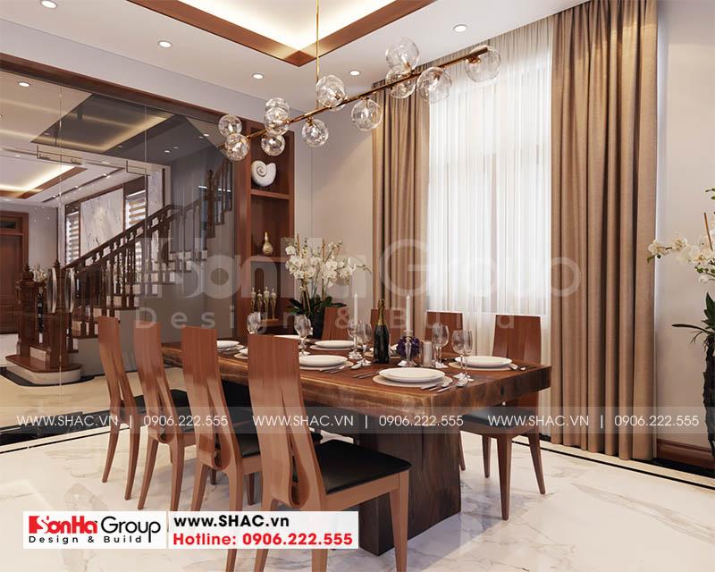 Bố trí không gian phòng bếp ăn ấn tượng phong cách hiện đại