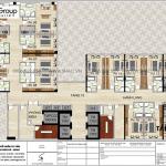 9 Mặt bằng tầng 15 đến 19 khách sạn kiểu tân cổ điển đẹp tại nghệ an sh ks 0086