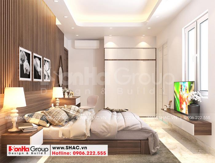 Mẫu phòng ngủ đẹp phong cách hiện đại cho không gian nhà phố 3 tầng