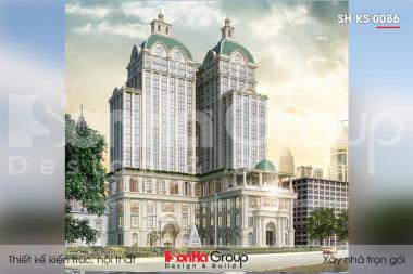 BÌA thiết kế khách sạn 5 sao tân cổ điển 20 tầng tại nghệ an sh ks 0086