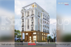 BÌA thiết kế khách sạn tân cổ điển 3 sao 5 tầng tại phú quốc sh ks 0081