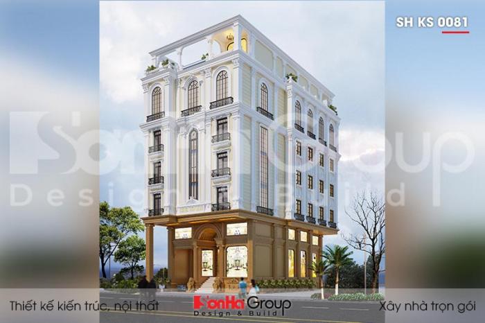 Thiết kế khách sạn tân cổ điển 3 sao 5 tầng tại phú quốc sh ks 0081