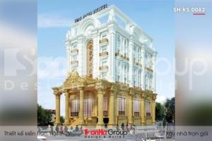 BÌA thiết kế khách sạn tân cổ điển 3 sao 6 tầng tại sơn la sh ks 0082