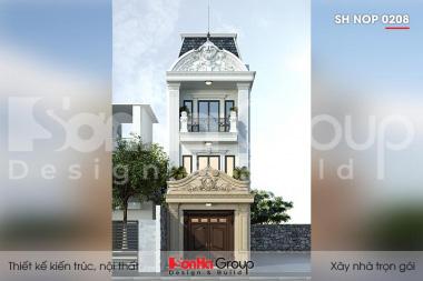 BÌA thiết kế nhà ống tân cổ điển 3 tầng mặt tiền 5m tại quảng ninh sh nop 0208