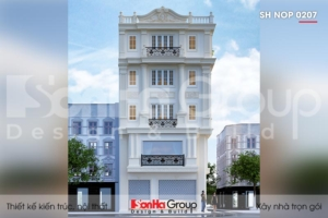 BÌA thiết kế nhà ống tân cổ điển 5 tầng kết hợp kinh doanh tại hà nội sh nop 0207