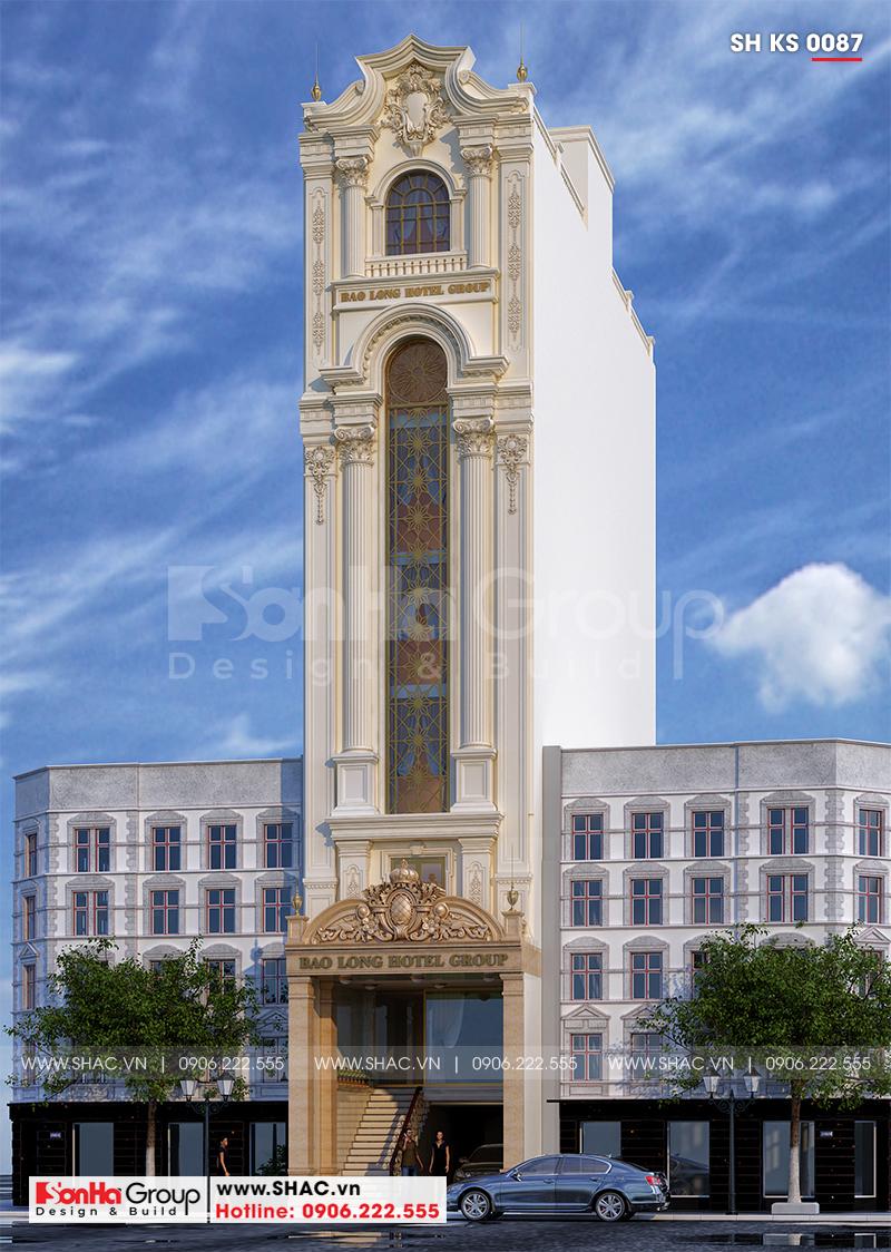 Thiết kế cải tạo khách sạn tân cổ điển 3 sao 6x23,4m tại Sài Gòn – SH KS 0087 2