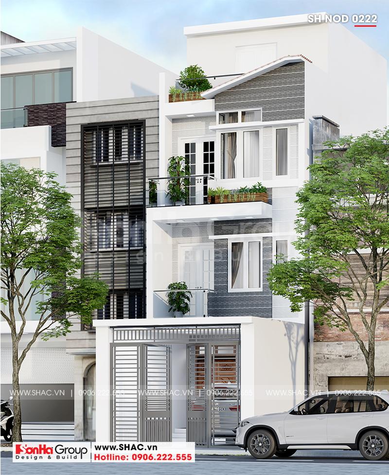 Mẫu thiết kế nhà phố hiện đại 1 trệt 3 lầu mặt tiền 5m tại Sài Gòn