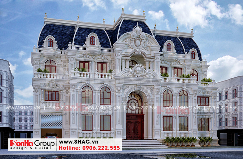 Tròn mắt với biệt thự lâu đài 3 tầng 1 tum tại Vĩnh Phúc thiết kế xa hoa – SH BTLD 0045 3