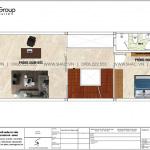 4 Bản vẽ lầu 1 nhà ống hiện đại có 3 phòng ngủ tại sài gòn sh nod 0222