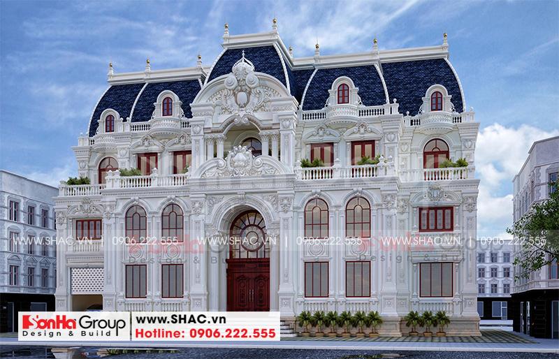 Tròn mắt với biệt thự lâu đài 3 tầng 1 tum tại Vĩnh Phúc thiết kế xa hoa – SH BTLD 0045 4