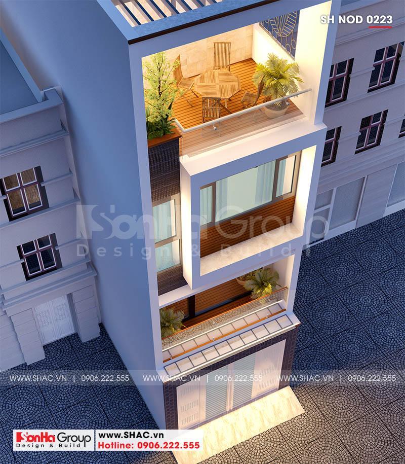 Thiết kế nhà ống hiện đại 3 phòng ngủ phong thủy tại Hải Phòng - SH NOD 0223 3