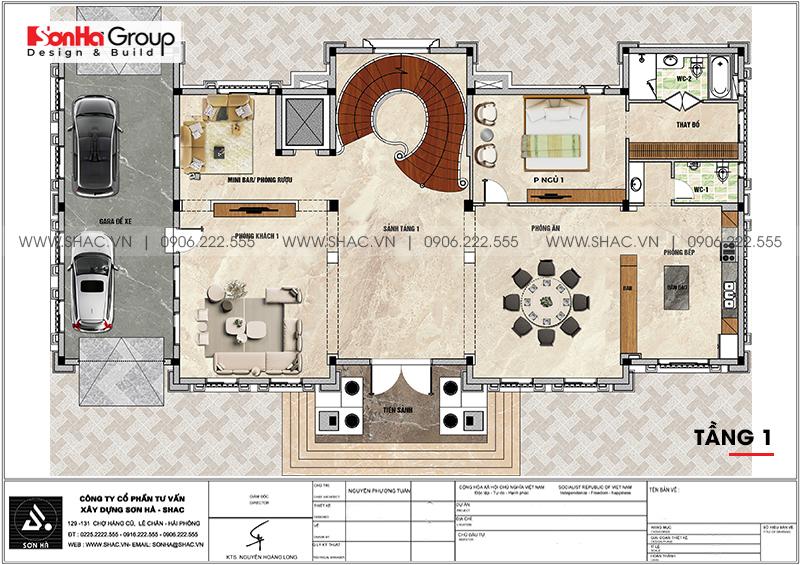 Tròn mắt với biệt thự lâu đài 3 tầng 1 tum tại Vĩnh Phúc thiết kế xa hoa – SH BTLD 0045 5