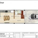 5 Mặt bằng tầng 1 nhà ống hiện đại đẹp tại hải phòng sh nod 0223