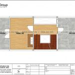6 Bản vẽ lầu 3 nhà ống hiện đại 4 tầng tại sài gòn sh nod 0222