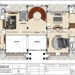 6 Bản vẽ tầng 2 biệt thự lâu đài 3 tầng 1 tum tại vĩnh phúc sh btld 0045