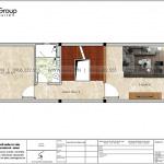 6 Bản vẽ tầng 2 nhà ống hiện đại 4 tầng tại hải phòng sh nod 0223