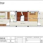 8 Bản vẽ tầng 4 nhà ống hiện đại có 3 phòng ngủ tại hải phòng sh nod 0223