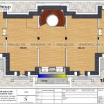 8 Bản vẽ tầng tum biệt thự lâu đài mặt tiền 25m tại vĩnh phúc sh btld 0045