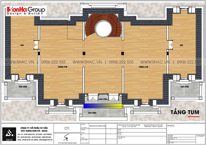 Tròn mắt với biệt thự lâu đài 3 tầng 1 tum tại Vĩnh Phúc thiết kế xa hoa – SH BTLD 0045 8