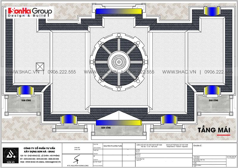 Tròn mắt với biệt thự lâu đài 3 tầng 1 tum tại Vĩnh Phúc thiết kế xa hoa – SH BTLD 0045 9