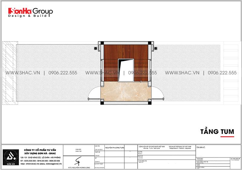 Thiết kế nhà ống hiện đại 3 phòng ngủ phong thủy tại Hải Phòng - SH NOD 0223 8