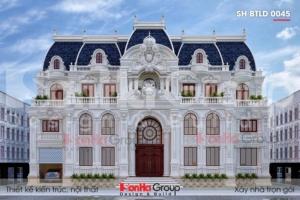 BÌA thiết kế biệt thự lâu đài 3 tầng 1 tum mặt tiền 25m tại vĩnh phúc sh btld 0045