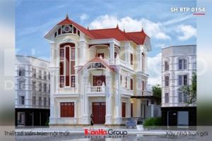 BÌA thiết kế biệt thự tân cổ điển 3 tầng 2 mặt tiền tại quảng ninh sh btp 0154
