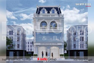 BÌA thiết kế biệt thự tân cổ điển 3 tầng kết hợp kinh doanh tại hải phòng sh btp 0155