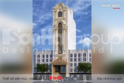 BÌA thiết kế khách sạn tân cổ điển 3 sao 8 tầng tại sài gòn sh ks 0087