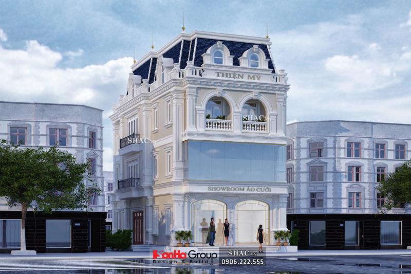 Biệt thự 3 tầng mặt tiền 8m làm showroom áo cưới