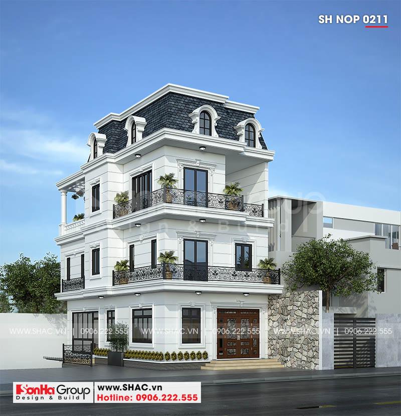Mẫu thiết kế nhà ống tân cổ điển 3 tầng nội thất tiện nghi tại Quảng Ninh