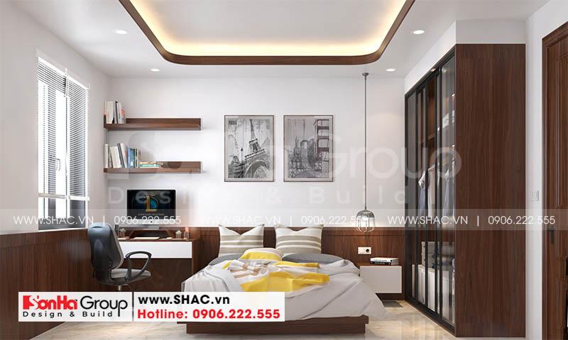 Thiết kế nội thất hiện đại cho phòng ngủ ấn tượng dùng nội thất gỗ
