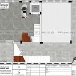 15 Mặt bằng tầng hầm nhà ống tân cổ điển có gara ô tô tại quảng ninh sh nop 0211