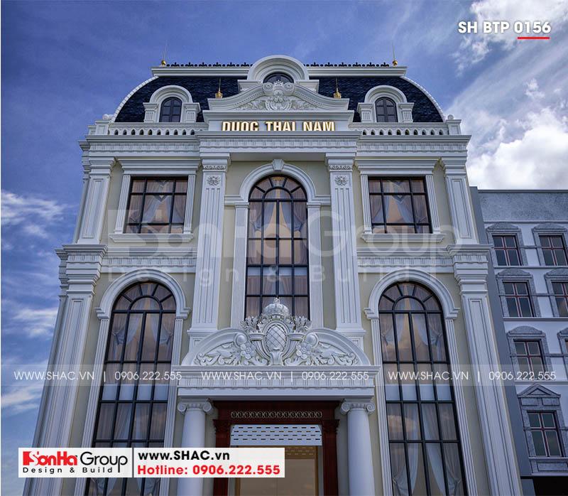 Kiến trúc biệt thự 3 tầng đẹp được tạo nên bởi các đường nét tinh tế